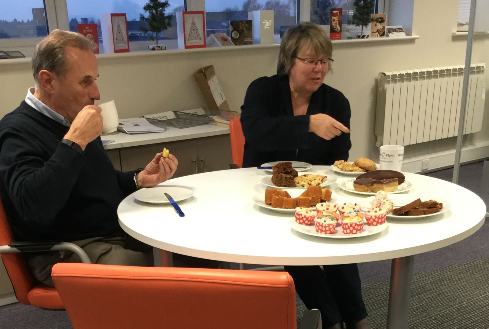 Libby and Graeme judge the bake off challenge